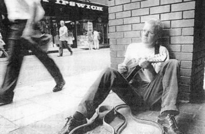 Ben Walker Ipswich busking 1994