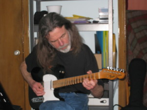 Gare playing his Tele