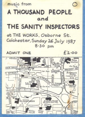 A Thousand People + The Sanity Inspectors (featuring Ben Bahaudin Walker) poster 1987